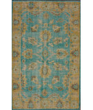 RugStudio presents Nuloom Hand Knotted Darius Turquoise Hand-Knotted, Good Quality Area Rug