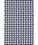 RugStudio presents Nuloom Flatweave Mod Houndstooth Navy Blue Flat-Woven Area Rug