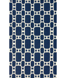 RugStudio presents Nuloom Flatweave Eve Navy Blue Flat-Woven Area Rug