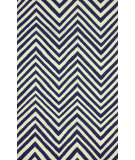 RugStudio presents Nuloom Flatweave Simon Chevron Navy Blue Flat-Woven Area Rug