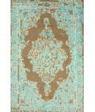 RugStudio presents Nuloom Hand Knotted Ivana Turquoise Hand-Knotted, Good Quality Area Rug