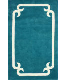 RugStudio presents Nuloom Hand Tufted Centro Aqua Hand-Tufted, Good Quality Area Rug