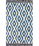 RugStudio presents Nuloom Hand Knotted Soukey Blue Hand-Knotted, Good Quality Area Rug