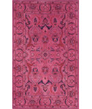 RugStudio presents Nuloom Hand Tufted Kimberly Overdyed Style Pink Hand-Tufted, Good Quality Area Rug