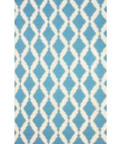 RugStudio presents Nuloom Flatwoven Tracey Teal Flat-Woven Area Rug