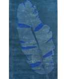 RugStudio presents Nuloom Maison Moderne Leaf Blue Hand-Tufted, Good Quality Area Rug