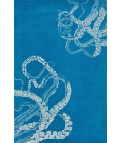 RugStudio presents Nuloom Hand Tufted Tentacles Blue Waters Hand-Tufted, Good Quality Area Rug
