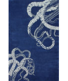 RugStudio presents Nuloom Hand Tufted Tentacles Navy Hand-Tufted, Good Quality Area Rug