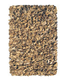 RugStudio presents Nuloom Hand Made Silas Leather Shag Beige Area Rug