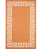 RugStudio presents Nuloom Flatweave Flatweave Border Scroll Tangerine Flat-Woven Area Rug