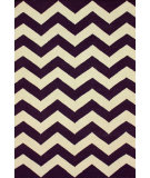 RugStudio presents Nuloom Flatweave Flatweave Chevron Purple Flat-Woven Area Rug