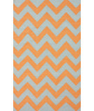 RugStudio presents Nuloom Flatweave Flatweave Chevron Orange Flat-Woven Area Rug