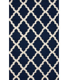 RugStudio presents Rugstudio Sample Sale 104444R Navy Blue Hand-Hooked Area Rug