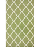 RugStudio presents Nuloom Hand Hooked Meknes Trellis Light Green Hand-Hooked Area Rug