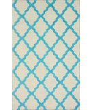 RugStudio presents Nuloom Trellis Moroccan Shag Turquoise Hand-Tufted, Good Quality Area Rug