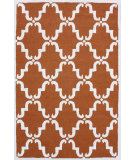 RugStudio presents Nuloom Trellis Bold Pumpkin Hand-Tufted, Good Quality Area Rug