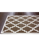 RugStudio presents Nuloom Trellis Bold Brown Hand-Tufted, Good Quality Area Rug