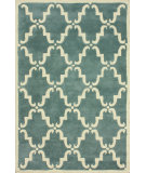RugStudio presents Nuloom Hand Tufted Bold Trellis Light Blue Hand-Tufted, Good Quality Area Rug