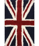 RugStudio presents Nuloom Hand Tufted Union Jack Shag Blue Area Rug