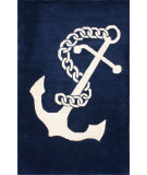 RugStudio presents Nuloom Hand Tufted High Seas Navy Hand-Tufted, Good Quality Area Rug