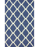 RugStudio presents Nuloom Flatweave Pop Trellis Deep Blue Flat-Woven Area Rug