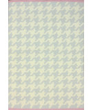 RugStudio presents Nuloom Flatweave Houndstooth Soft Grey Flat-Woven Area Rug