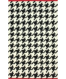 RugStudio presents Nuloom Flatweave Houndstooth Black Flat-Woven Area Rug
