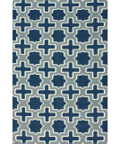 RugStudio presents Nuloom Flatweave Houndstooth Blue Flat-Woven Area Rug