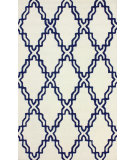 RugStudio presents Nuloom Hand Tufted Rope Trellis Navy Hand-Tufted, Good Quality Area Rug
