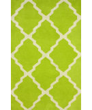 RugStudio presents Nuloom Hand Tufted Double Panel Trellis Light Green Hand-Tufted, Good Quality Area Rug