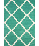 RugStudio presents Nuloom Hand Tufted Double Panel Trellis Green Hand-Tufted, Good Quality Area Rug