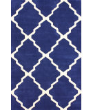 RugStudio presents Nuloom Hand Tufted Double Panel Trellis Navy Hand-Tufted, Good Quality Area Rug
