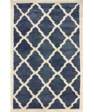RugStudio presents Nuloom Hand Tufted Aisha Navy Hand-Tufted, Good Quality Area Rug