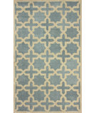 RugStudio presents Nuloom Hand Tufted Washed Lattice Blue Hand-Tufted, Good Quality Area Rug