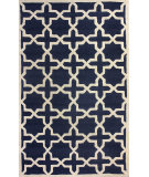 RugStudio presents Nuloom Hand Hooked Hive Trellis Navy Hand-Hooked Area Rug