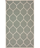RugStudio presents Nuloom Flatweave Honeycomb Light Grey Flat-Woven Area Rug