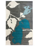 RugStudio presents Nuloom Maison Leaves Blue Hand-Tufted, Good Quality Area Rug