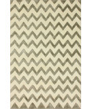 RugStudio presents Nuloom Hand Tufted Posh Chevron Silver Hand-Tufted, Good Quality Area Rug