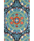 RugStudio presents Nuloom Hand Tufted Suzanne Blue Hand-Tufted, Good Quality Area Rug