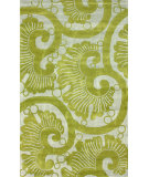 RugStudio presents Nuloom Hand Tufted Swirl Grey Hand-Tufted, Good Quality Area Rug