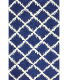 RugStudio presents Nuloom Hand Tufted Barb Trellis Blue Hand-Tufted, Good Quality Area Rug