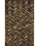 RugStudio presents Nuloom Hand Tufted Coco Patchwork Cowhide Cola Area Rug