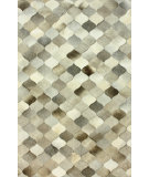 RugStudio presents Nuloom Hand Woven Chex Cowhide Patchwork Grey Woven Area Rug