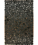 RugStudio presents Nuloom Hand Woven Midnight Cowhide Patches Black Woven Area Rug