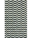 RugStudio presents Nuloom Hand Woven Chevron Cowhide Patches Black Woven Area Rug
