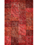 RugStudio presents Nuloom Hand Tufted Marteen Overdyed Style Red Hand-Tufted, Good Quality Area Rug