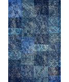 RugStudio presents Nuloom Hand Tufted Marteen Overdyed Style Blue Hand-Tufted, Good Quality Area Rug