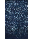 RugStudio presents Nuloom Hand Knotted Fredrik Navy Blue Hand-Knotted, Good Quality Area Rug