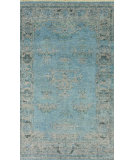 RugStudio presents Nuloom Hand Knotted Persian Sky Sky Blue Hand-Knotted, Good Quality Area Rug