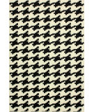 RugStudio presents Nuloom Machine Made Bold Houndstooth Black Machine Woven, Good Quality Area Rug
